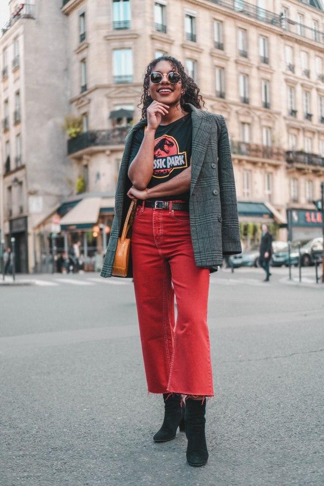 red pants street